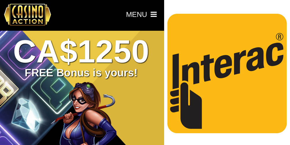 Casino Action accepts Interac cards in Canada