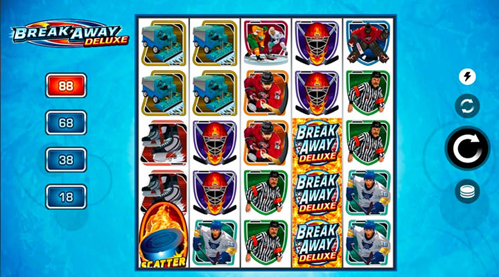 Break Away Deluxe slot machine - bet online